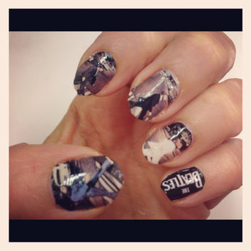 The BEATLES ABBEY ROAD nail decals