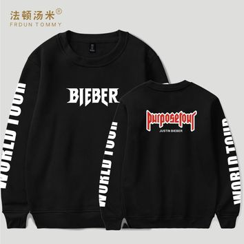 BTS 2017 Justin Bieber Purpose Tour Hoodies Sweatshirts Men/women 4XL For Winter Autumn Hoodies outwear clothes xxxxl