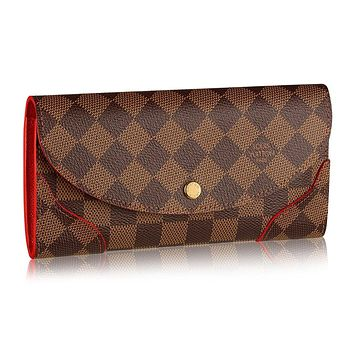 Louis Vuitton Damier Canvas Caissa Wallet Cherry Article:N61221 Made in France
