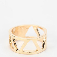 Urban Outfitters - Cutout Geo Midi Ring