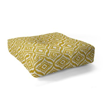 Heather Dutton Trevino Yellow Floor Pillow Square