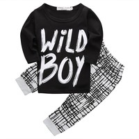 Wild Boy Printed T-Shirt and Pants 2pc set