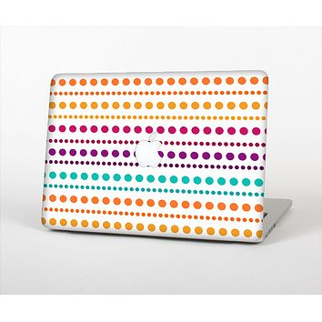 The Colorful Polka Dots on White Skin Set for the Apple MacBook Pro 13""