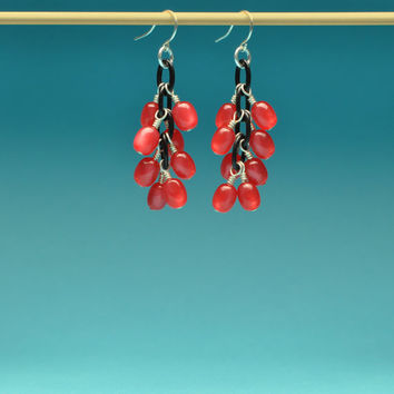 Cherry Jelly Bean Earrings