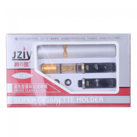 JY-058 Cleanable Reusable Filter Cigarette Holder Black And Golden - Default