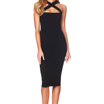 Black Viva 2 Way Midi : Buy Designer Dresses Online at Nookie