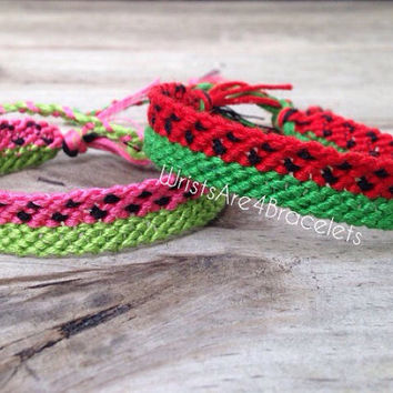 Watermelon Friendship Bracelet - Pink or Red
