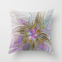 Abstract Fractal Art Throw Pillow by Gabiw Art