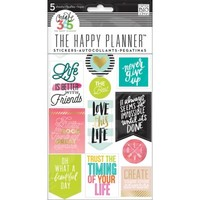 Me & My Big Ideas Create 365 The Happy Planner Life Quotes Stickers PPS-61