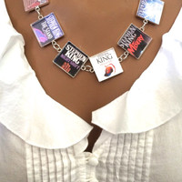 Stephen King Necklace-DESIGN your own Necklace -books,author-it,the stand,fire starter,dead zone,night shift,carrie,pet seminary