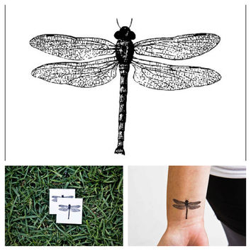 Fly  temporary tattoo Set of 2 by Tattify on Etsy