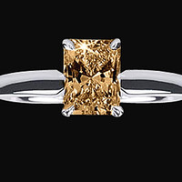 1.25 ct. Cognac radiant diamond anniversary ring brown cognac jewelry