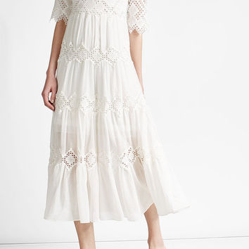 Maxi Dress with Crochet - Zimmermann | WOMEN | US STYLEBOP.COM