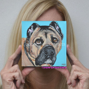 Custom pet portrait dog portrait dog painting pop art pet portraits custom pet painting original dog portrait personalized dog portrait