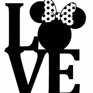 Minnie Mouse LOVE  Car Window Ipad Tableet PC Notebook Cumputer Decal Sticker