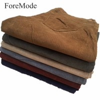 ForeMode 2017 New Men Straight Corduroy Trousers of Leisure Business Men's Cotton Corduroy Pants