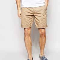 ASOS Stretch Chino Shorts In Long Length