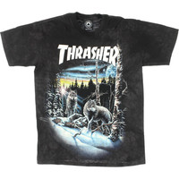 New Thrasher Magazine 13 Wolves Black Tie Dye T-Shirt - Medium Now in Stock!