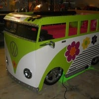 Groovy VW Bus Chopped and Lowered Custom Fantasy by quentinhd
