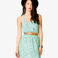 Ditsy Triangle Racerback Dress