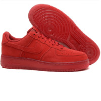 NIKE Women Men Running Sport Casual Shoes Sneakers Air force Low tops Red