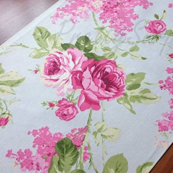 New!! Premier Floral Table Runner,Decorative Table Runner, Pastel Table Cover,Handmade Table Runner, Spring Table Decor, Cotton Table Runner