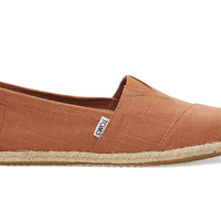 TOMS Rust Linen Men's Classics Brown