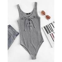 Favorite Tee Bodysuit - Grey