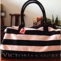Pink High Quality Durable Victoria's Secret Like Sport Exercise Carry on Yoga Gym Travel Luggage Bag  _ 13496