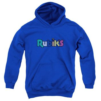 Rubik's Cube - Smudge Logo Youth Pull Over Hoodie