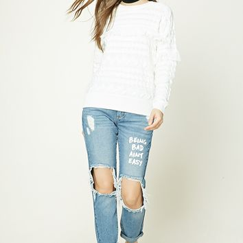 Distressed Graphic Jeans