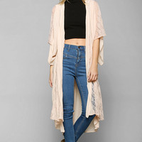 Band Of Gypsies Lace Godet Kimono Jacket - Urban Outfitters
