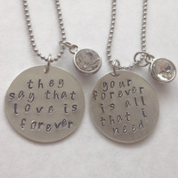 Sleeping With Sirens Handmade Lyrics Couple/Best Friends Necklaces with charms!