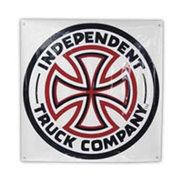 """Independent Trucks Red/White Cross Banner 45""""x45"""""""