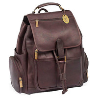 Leather Uptown Backpack, Café, Backpacks