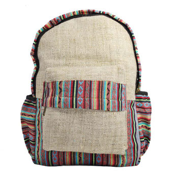 Mato Naturals Lightweight Casual Hemp Backpack College School Laptop Shoulder Bag