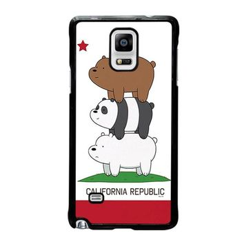 we bare bears california republic samsung galaxy note 4 case cover  number 1