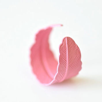 Pink Feather Ring