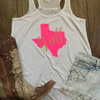 Texas Y'all Women's Tank Top {Customizable - Any State}