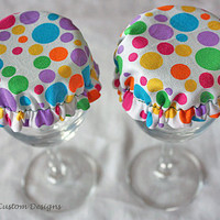 Reusable Wine Glass Cover by TailaCustomDesigns