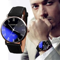 Men's Luxury Faux Leather Analog Watches