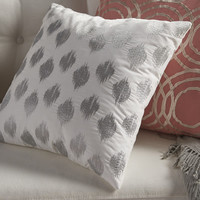 Ink + Ivy Nadia Dot Embroidered Cotton Throw Pillow & Reviews | Wayfair