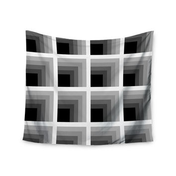 "Trebam ""Dubina"" Black White Wall Tapestry"