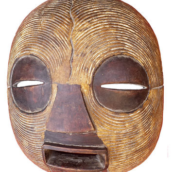 Luba African Mask, Tribal African Mask from Congo