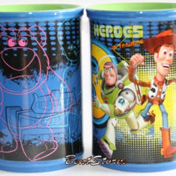Licensed cool NEW Disney Store Pixar Toy Story 3 Woody Buzz Heroes Ceramic Coffee Mug Cup