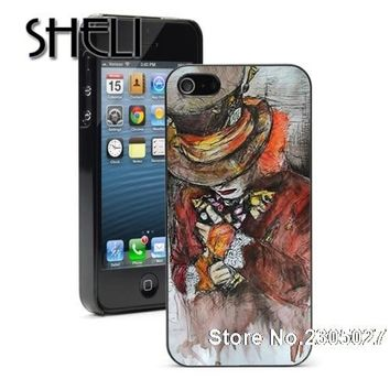 SHELI Alice in Wonderland The Hatter case cover for iphone 5s 6 6s 6plus 7 7plus Samsung galaxy note5 s3 s4 s5 s6 edge s7 edge