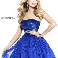 Sherri Hill Short Dress 8520 at Peaches Boutique