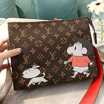 LV Louis Vuitton New fashion monogram anime leather shoulder bag crossbody bag cosmetic bag