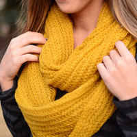 Cozy as Can Be Scarf- Mustard Yellow