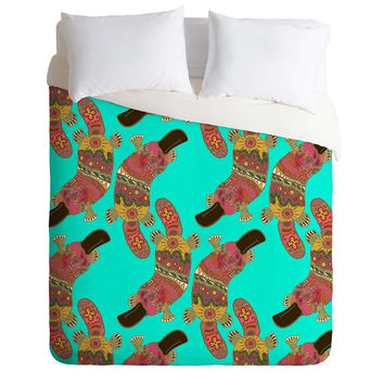 Sharon Turner Duck Billed Platypus Duvet Cover